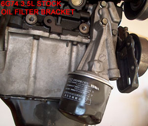 6G74 Oil FIlter Bracket