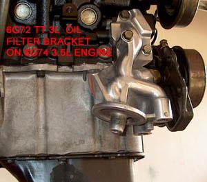 6G74TT Oil FIlter Bracket